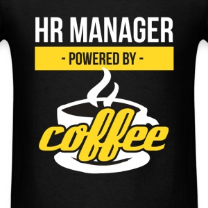 HR Manager powered by coffee - Men's T-Shirt