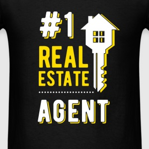 #1 real estate agent - Men's T-Shirt