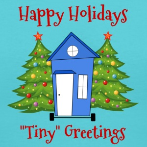 Happy Holidays Tiny House - Tiny Home T-Shirts - Women's V-Neck T-Shirt
