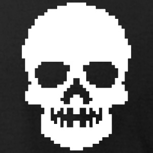 Pixel Skull Black - Men's T-Shirt by American Apparel