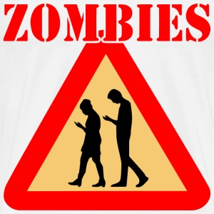 Zombie Teens With Cell Phones  - Men's Premium T-Shirt