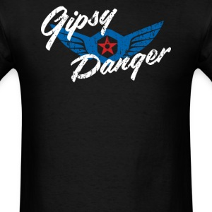Gipsy Danger Distressed Logo in White - Men's T-Shirt