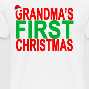 grandmas_first_christmas_tee_ - Men's Premium T-Shirt