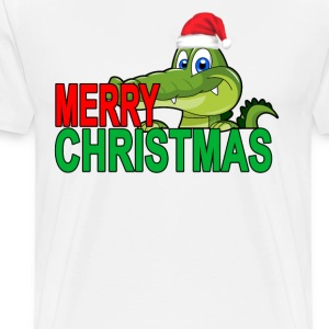 alligator_christmas_tshirt_ - Men's Premium T-Shirt