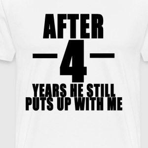 4th_anniversary_funny_tshirt_ - Men's Premium T-Shirt