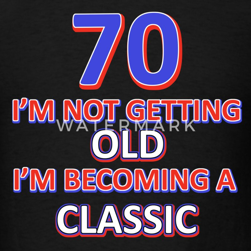 70th birthday design - Men's T-Shirt