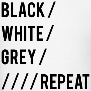 Black White Grey Repeat T-Shirts - Men's T-Shirt