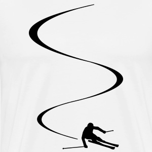 Ski curves Shirt - Men's Premium T-Shirt