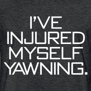 I'VE INJURED MYSELF T-Shirts - Fitted Cotton/Poly T-Shirt by Next Level