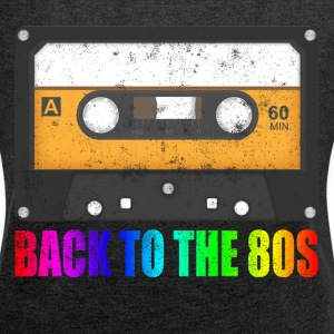 CASSETTE BACK TO THE 80'S NEVER FORGET T-Shirts - Women´s Rolled Sleeve Boxy T-Shirt