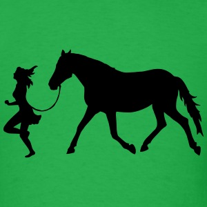 Woman with horse T-Shirts - Men's T-Shirt