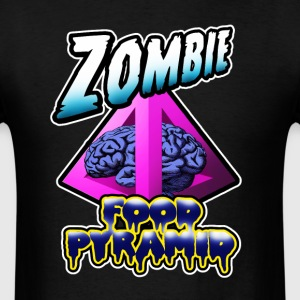 Zombie Food Pyramid. T-Shirts - Men's T-Shirt