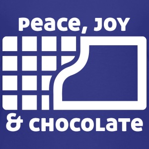 Peace, joy & chocolate (dark) Baby & Toddler Shirts - Toddler Premium T-Shirt