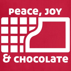 Peace, joy & chocolate (dark) Aprons - Adjustable Apron