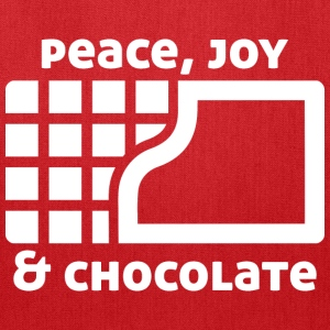 Peace, joy & chocolate (dark) Bags & backpacks - Tote Bag