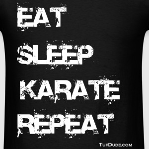 Eat Sleep Karate Repeat TD - Men's t-shirt - Men's T-Shirt