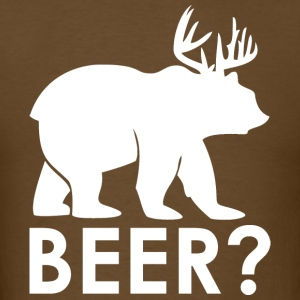 SS-1100 Beer Deer White T-Shirts - Men's T-Shirt
