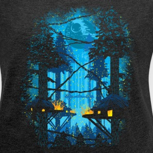 Ewok Village - Women´s Roll Cuff T-Shirt