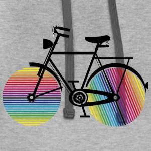 Bicycle with rainbow wheels Hoodies - Contrast Hoodie