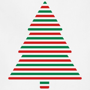 Xmas Tree Stripes Aprons - Adjustable Apron