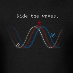 Ride_the_Waves - Men's T-Shirt
