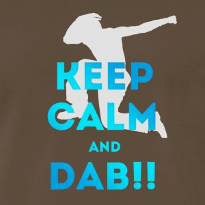 dab keep dabbing football touchdown mooving dance - Men's Premium T-Shirt