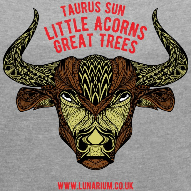 Taurus Sun Women´s Rolled Sleeve Boxy T-Shirt