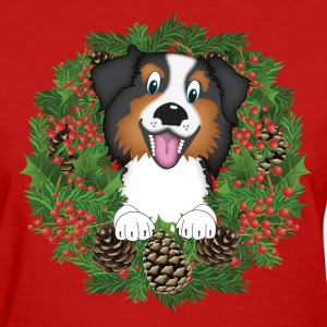 Aussie, dog, christmas, holidays T-Shirts - Women's T-Shirt