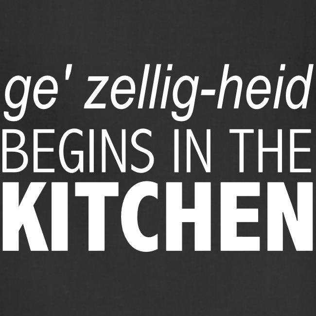 Gezelligheid Begins In The Kitchen - Apron