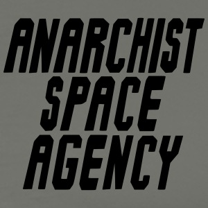 Anarchist Space Agency Gray T-Shirt - Men's Premium T-Shirt