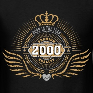 born_in_2000_crown09 T-Shirts - Men's T-Shirt