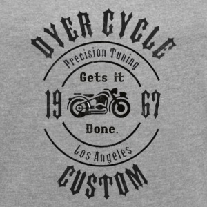 Dyer Cycle Precision Tuning - black - Women´s Roll Cuff T-Shirt