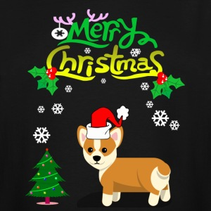 Merry Christmas Corgi Dog T-Shirt - Men's Tall T-Shirt