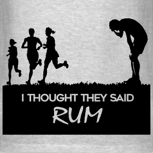 I thought they said rum - Men's T-Shirt