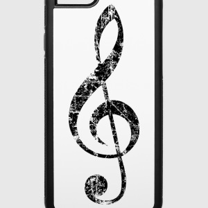 Treble Clef (Vintage/Black) iPhone 6 Case - iPhone 6/6s Rubber Case