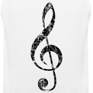 Treble Clef (Vintage/Black) Tank Top - Men's Premium Tank