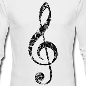 Treble Clef (Vintage/Black) Long Sleeve Shirt - Men's Long Sleeve T-Shirt by Next Level