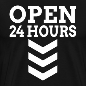 OPEN 24 HOURS T-Shirts - Men's Premium T-Shirt