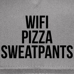 WiFi Pizza Sweatpants Funny Quote Sportswear - Snap-back Baseball Cap