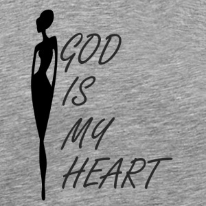 God is My Heart - Men's Premium T-Shirt