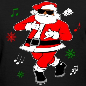Black Santa Ju Ju Dance T-Shirts - Women's T-Shirt
