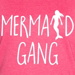 Mermaid Gang Funny Quote T-Shirts - Women's Vintage Sport T-Shirt