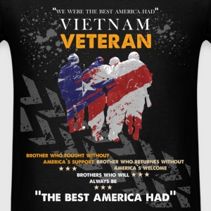 Vietnam veteran- Brother who fought without Americ - Men's T-Shirt