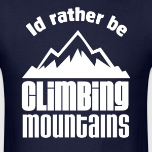 Mountain Climbing T-Shirts - Men's T-Shirt