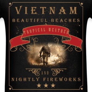 Vietnam beautiful beaches tropical weather and nig - Men's T-Shirt