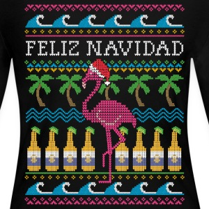 Feliz Navidad Ugly Christmas Sweater Long Sleeve Shirts - Women's Long Sleeve Jersey T-Shirt