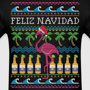 Feliz Navidad Ugly Christmas Sweater T-Shirts - Men's T-Shirt