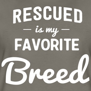 Rescued is my favorite breed T-Shirts - Women's Premium T-Shirt