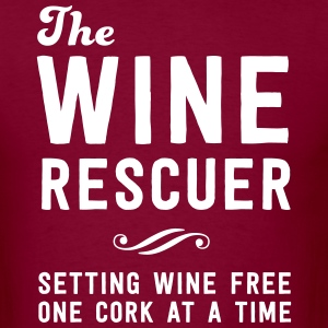 The Wine rescuer. Setting wine free one cork T-Shirts - Men's T-Shirt