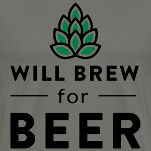 Will brew for beer T-Shirts - Men's Premium T-Shirt